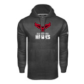 Under Armour Carbon Performance Sweats Team Hoodie-Hartford Hawks w/ Hawk Stacked