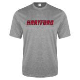 Performance Grey Heather Contender Tee-Hartford Logotype