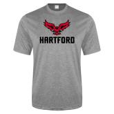 Performance Grey Heather Contender Tee-Hartford w/ Hawk Combination Mark