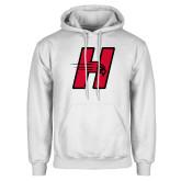 White Fleece Hoodie-Primary Logo Mark H