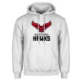 White Fleece Hoodie-Hartford Hawks w/ Hawk Stacked