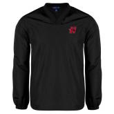V Neck Black Raglan Windshirt-Primary Logo Mark H