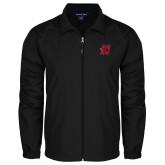 Full Zip Black Wind Jacket-Primary Logo Mark H