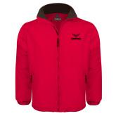 Red Survivor Jacket-Hartford w/ Hawk Combination Mark