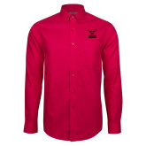 Red House Red Long Sleeve Shirt-Hartford Hawks w/ Hawk Stacked