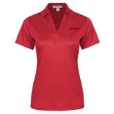 Ladies Red Performance Fine Jacquard Polo-Hartford Logotype