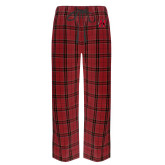 Red/Black Flannel Pajama Pant-Primary Logo Mark H