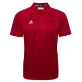 Adidas Climalite Red Jaquard Select Polo-Hartford Logotype