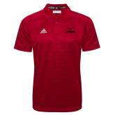 Adidas Climalite Red Jaquard Select Polo-Hartford w/ Hawk Combination Mark