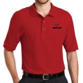Red Easycare Pique Polo-Hartford w/ Hawk Combination Mark
