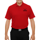 Under Armour Red Performance Polo-Hartford w/ Hawk Combination Mark