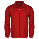 Full Zip Red Wind Jacket-Primary Logo Mark H