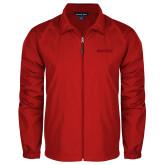 Full Zip Red Wind Jacket-Hartford Logotype