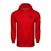 Under Armour Red Performance Sweats Team Hoodie-Primary Logo Mark H