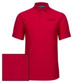 Red Horizontal Textured Polo-Hartford Logotype