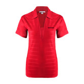 Ladies Red Horizontal Textured Polo-Hartford Logotype