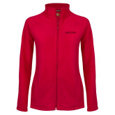 Ladies Fleece Full Zip Red Jacket-Hartford Logotype