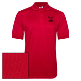 Red Dry Mesh Polo-Hartford Hawks w/ Hawk Stacked