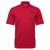 Red Mini Stripe Polo-Primary Logo Mark H
