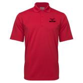 Red Mini Stripe Polo-Hartford w/ Hawk Combination Mark