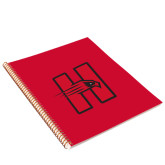 College Spiral Notebook w/Gold Coil-Primary Logo Mark H