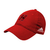 Adidas Red Slouch Unstructured Low Profile Hat-Primary Logo Mark H