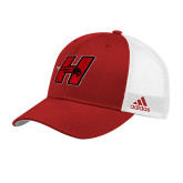 Adidas Red Structured Adjustable Hat-Primary Logo Mark H
