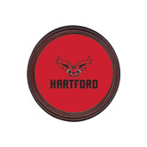 Round Coaster Frame w/Insert-Hartford w/ Hawk Combination Mark