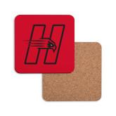 Hardboard Coaster w/Cork Backing-Primary Logo Mark H