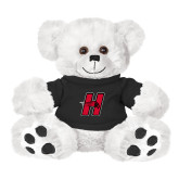 Plush Big Paw 8 1/2 inch White Bear w/Black Shirt-Primary Logo Mark H