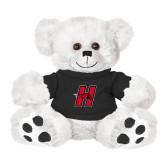 Plush Big Paw 8 1/2 inch White Bear w/Black Shirt-Primary Logo Mark H