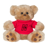 Plush Big Paw 8 1/2 inch Brown Bear w/Red Shirt-Primary Logo Mark H