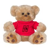 Plush Big Paw 8 1/2 inch Brown Bear w/Red Shirt-Primary Logo Mark H