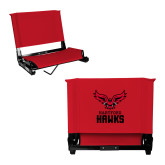 Stadium Chair Red-Hartford Hawks w/ Hawk Stacked