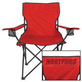 Deluxe Red Captains Chair-Hartford Logotype