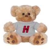 Plush Big Paw 8 1/2 inch Brown Bear w/Grey Shirt-Primary Logo Mark H