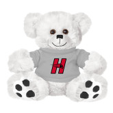 Plush Big Paw 8 1/2 inch White Bear w/Grey Shirt-Primary Logo Mark H