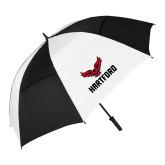62 Inch Black/White Umbrella-Hartford w/ Hawk Combination Mark