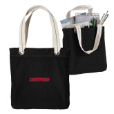 Allie Black Canvas Tote-Hartford Logotype