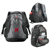 Wenger Swiss Army Tech Charcoal Compu Backpack-Primary Logo Mark H
