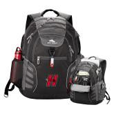 High Sierra Big Wig Black Compu Backpack-Primary Logo Mark H