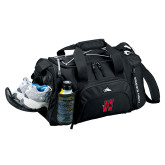 High Sierra Black Switch Blade Duffel-Primary Logo Mark H