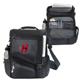 Momentum Black Computer Messenger Bag-Primary Logo Mark H