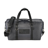 Cutter & Buck Pacific Series Black Weekender Duffel-Official Logo Debossed