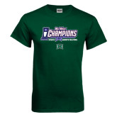 Big West Dark Green T Shirt-Big West Champions 2016 Hawaii Womens Volleyball