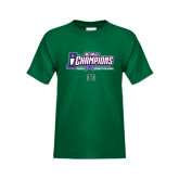 Big West Youth Dark Green T Shirt-Big West Champions 2016 Hawaii Womens Volleyball