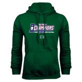 Big West Dark Green Fleece Hood-Big West Champions 2016 Hawaii Womens Volleyball