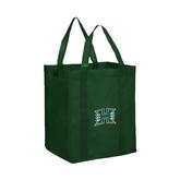 Non Woven Dark Green Grocery Tote-Official Logo