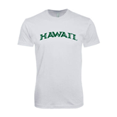 Next Level SoftStyle White T Shirt-Hawaii Arch