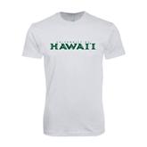 Next Level SoftStyle White T Shirt-University Of Hawaii